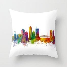 Jacksonville Florida Skyline Throw Pillow