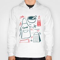 cook Hoodies featuring Cook! by Bethany Thompson
