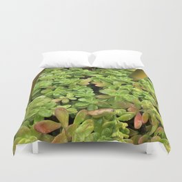 Bamboo in a sea of green Duvet Cover