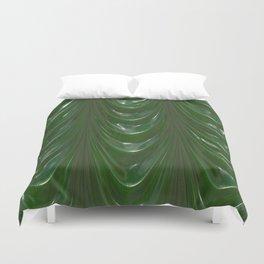 Decadent drapery,dark green Duvet Cover