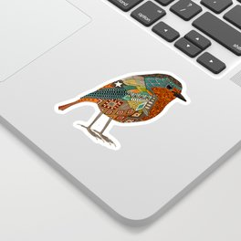 robin gold Sticker