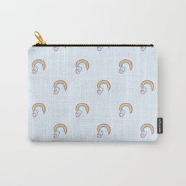 Kawaii proud rainbow cattycorn pattern Carry-All Pouch