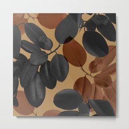 Ficus Leaves Glam #2 #tropical #decor #art #society6 Metal Print