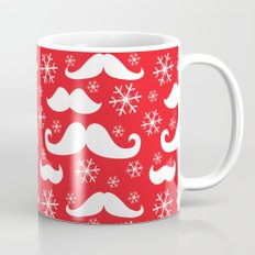 Mustaches and Snowflakes Coffee Mug