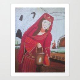 Queen Esther, a Hebrew Israelite Handmaiden Art Print