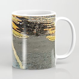 The Golden Path - an abstract, textured piece in neutrals by Jacob von Sternberg Art Coffee Mug