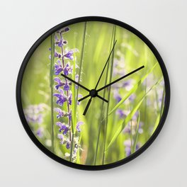Country grass Wall Clock