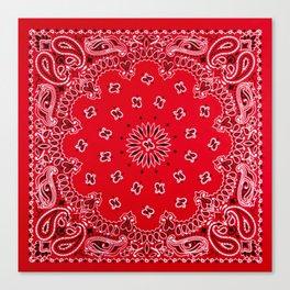 Paisley - Bandana Art - Red - Southwestern Canvas Print
