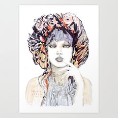 Spring fashion portrait Art Print