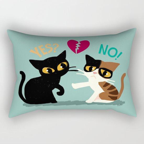 Yes or No Rectangular Pillow