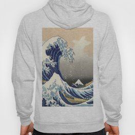 seascape painting japanese ukiyo e art the great wave off kanagawa Hoody