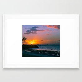 Paradise Sunset 5 Framed Art Print