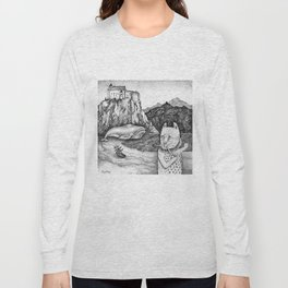 The Whale, The Castle & The Smoking Cat Long Sleeve T-shirt