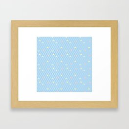Coloful Scalloped Wave Framed Art Print