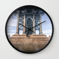 dumbo Wall Clocks featuring DUMBO by MikeMartelli