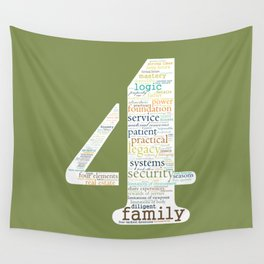 Life Path 4 (color background) Wall Tapestry