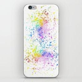 Paint splatters iPhone Skin