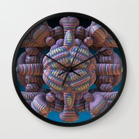totem Wall Clocks featuring Totem by Lyle Hatch