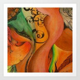 Hearts Chambers Art Print