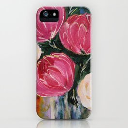 Pinks and teals iPhone Case
