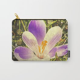 Crocus party Time on Spring Carry-All Pouch