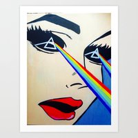 floyd Art Prints featuring Pink Floyd by Gabrielle Wall