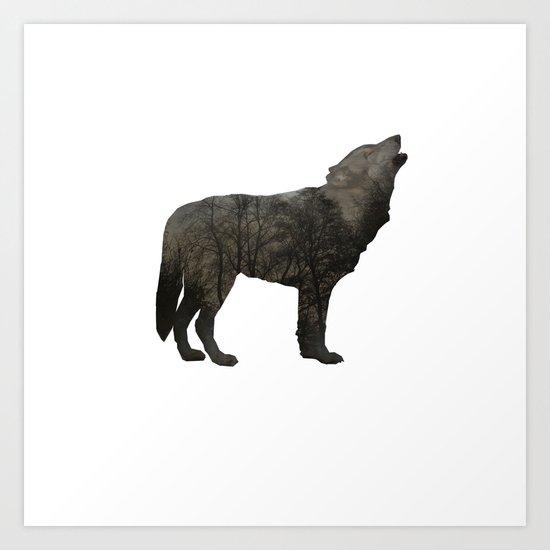 SOUL OF A WOLF Art Print