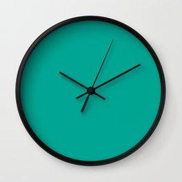 Persian Green - solid color Wall Clock