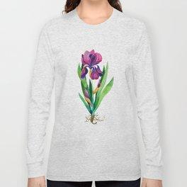 Purple Iris Long Sleeve T-shirt
