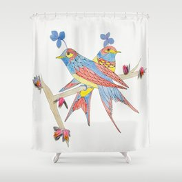 Put a Bird on It Shower Curtain