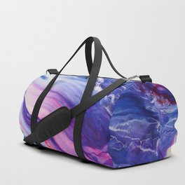 Tranquil Swirl Hybrid- Painting Duffle Bag