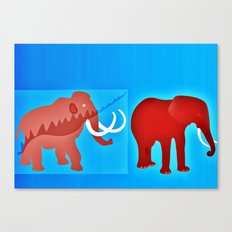 Ice age evolution Canvas Print