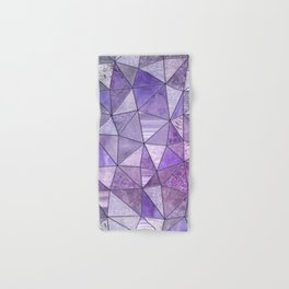 Purple Lilac Glamour Shiny Shimmering Patchwork Hand & Bath Towel