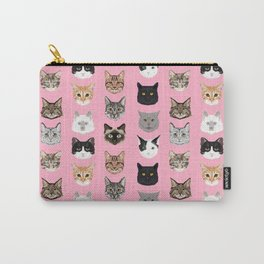 Cats Cats Cats purrfect gift present for cat lover cat lady cat man all cat breeds by pet friendly Carry-All Pouch