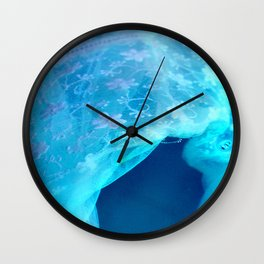 ghost in the swimming pool Wall Clock