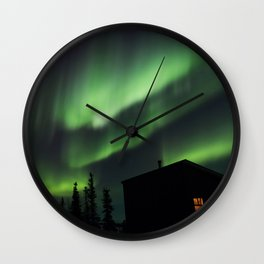 Northern Lights 2 Wall Clock