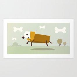 Happy Bones Art Print