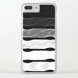 squares aliasing Clear iPhone Case