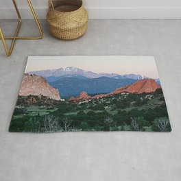 Sunrise at Garden of the Gods and Pikes Peak Rug