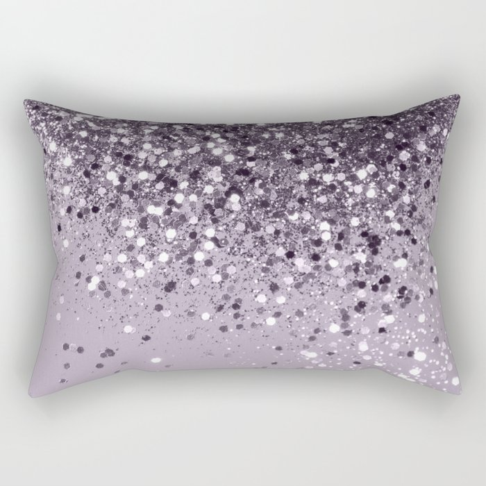 Sparkling Lavender Lady Glitter #2 #shiny #decor #art #society6 Rectangular Pillow