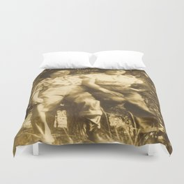 Western Vintage Cowgirls Sweethearts Of The Rodeo Duvet Cover