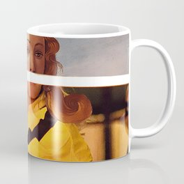 Botticelli's Venus & Beatrix Kiddo in Kill Bill Coffee Mug