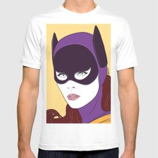 60s Batgirl SMALL White Mens Fitted Tee