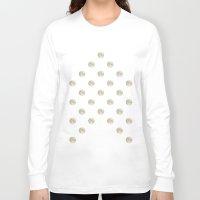 polka dot Long Sleeve T-shirts featuring Full Moon Polka Dot by Paula Belle Flores