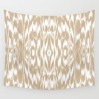 ikat Wall Tapestries featuring Ikat: CAMEL by Eileen Paulino
