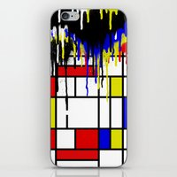 mondrian iPhone & iPod Skins featuring MONDRIAN by DIVIDUS