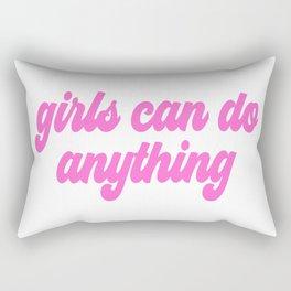 girls can do anything Rectangular Pillow