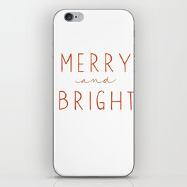 Merry and Bright - Red iPhone Skin