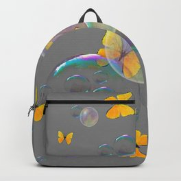 #2 YELLOW BUTTERFLIES  & SOAP BUBBLES GREY COLOR Backpack