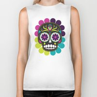 day of the dead Biker Tanks featuring Day of the Dead by Piper Burke
